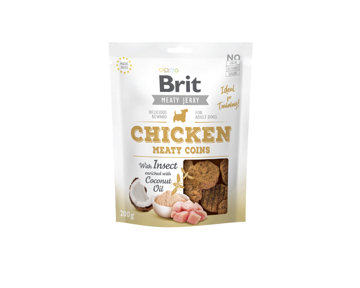 BRIT JERKY Chicken Meaty Coins with Insect - 200g