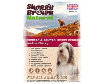 SHAGGY BROWN NATURAL - Venison & Salmon, Sweet Potato & Mulberry - 100g