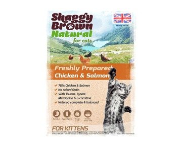 SHAGGY BROWN NATURAL for Cats - Chicken & Salmon for Kittens - 2kg