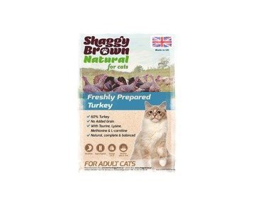 SHAGGY BROWN NATURAL for Cats - Turkey for Adult Cats - 400g