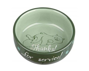 TRIXIE Ceramic Bowl - Thanks for Service - 0,3 l / 11 cm