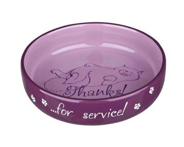 TRIXIE Ceramic Bowl - Thanks for Service - 0,3 l / 15 cm