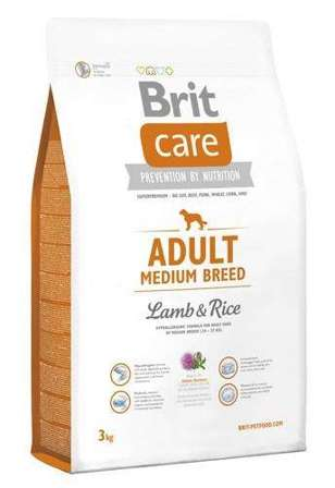 BRIT CARE Adult Medium Breed Lamb & Rice - 3kg