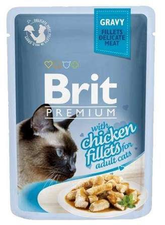 Brit Premium Cat Fillets with Chicken sos saszetka 85g