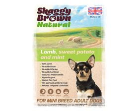 SHAGGY BROWN NATURAL - SMALL BREED Lamb, Sweet Potato & Mint - 6 kg